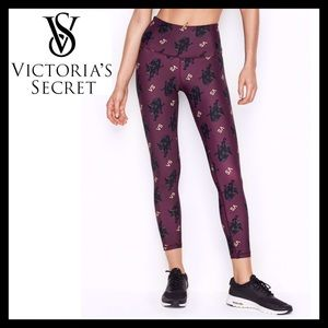 Victoria's Secret 7/8 Printed Tights Royal Kitty